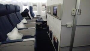 デルタ航空で赤ちゃん用のバシネットを使うと、どこの席になるのか