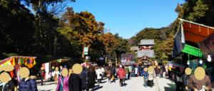 1月4日・鎌倉の鶴岡八幡宮に初詣、渋滞/混雑や屋台はまだあるか