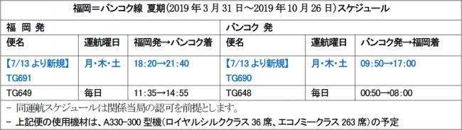 タイ国際航空、7月13日より福岡=バンコク線を増便、週10便体制に増便