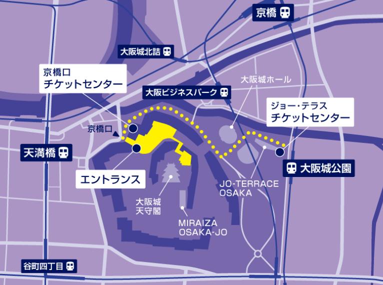 大阪城サクヤルミナ地図