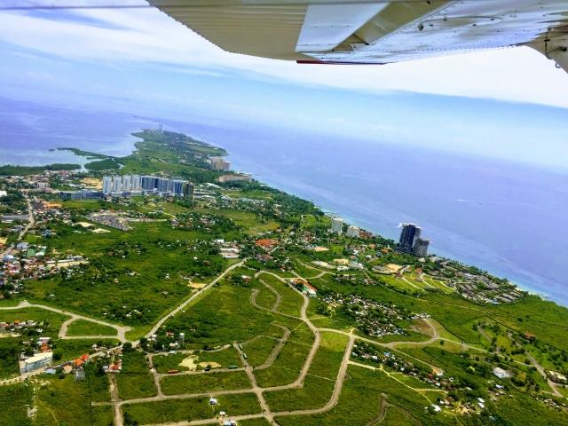セブ島 飛行機から