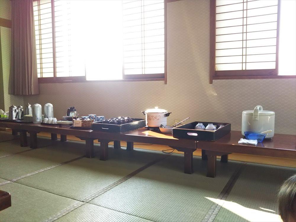 甲府昭和温泉ビジネスホテル:朝ごはんセルフ