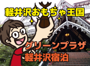 軽井沢おもちゃ王国に隣接、ホテルグリーンプラザ軽井沢へ泊まって来た